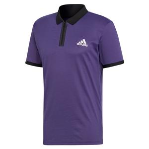 Men`s Escouade Tennis Polo Legend Purple and White