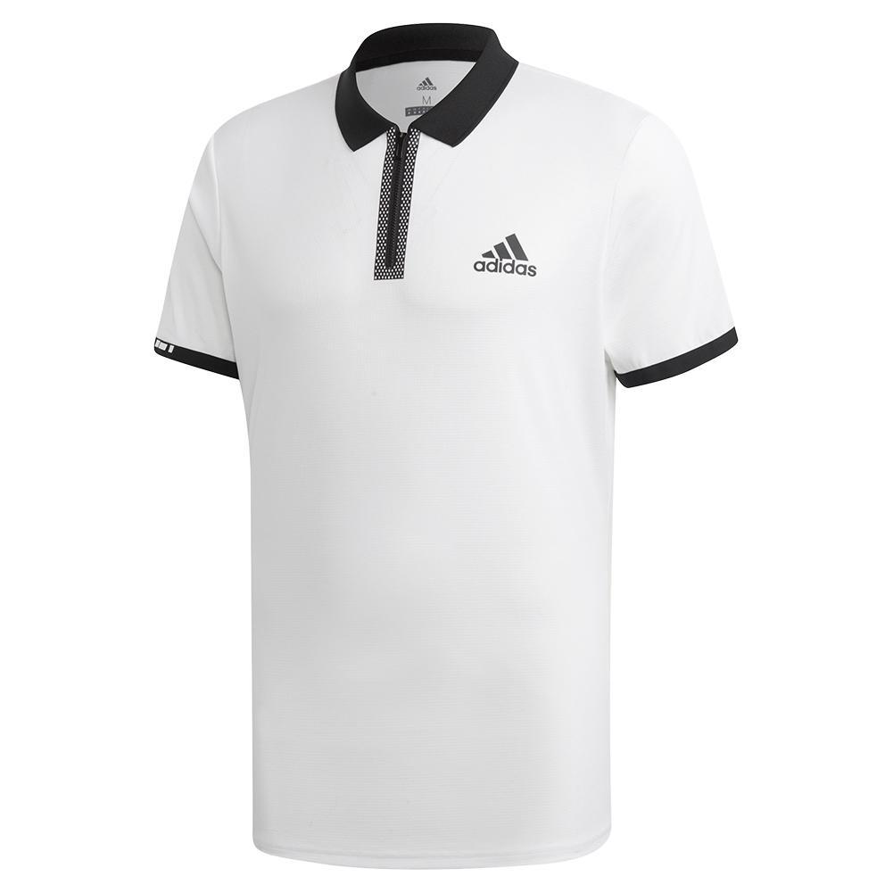 Men's Escouade Tennis Polo White And Black