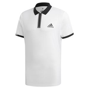 Men`s Escouade Tennis Polo White and Black