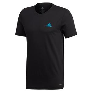 Men`s Paris Graphic Tennis Tee Black