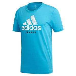 Men`s Category Graphic Tennis Tee Shock Cyan