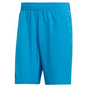 Men`s Club 9 Inch Tennis Short Shock Cyan and Black