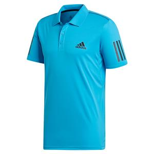 Men`s Club 3 Stripes Tennis Polo Shock Cyan and Black