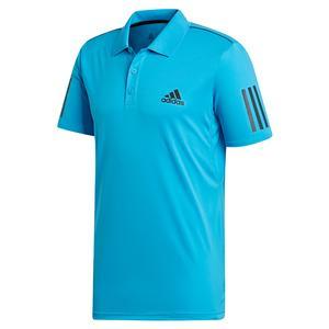 Men`s Club 3 Stripes Tennis Polo Shock Cyan and Black