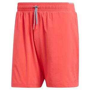 Men`s Club Stretch Woven 7 Inch Tennis Short Shock Red