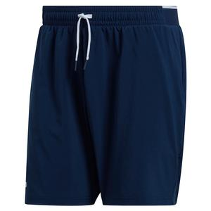 Men`s Club Stretch Woven 7 Inch Tennis Short Collegiate Navy