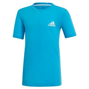 Boys` Escouade Tennis Top Shock Cyan and White