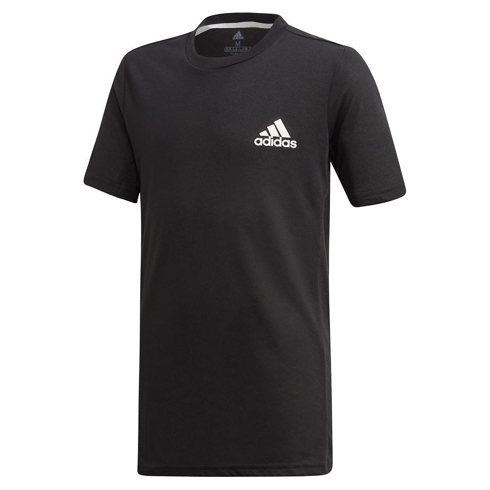 Boys ` Escouade Tennis Top Black And White
