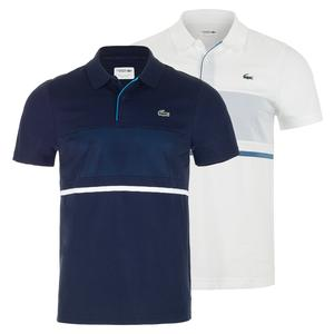 Men`s Mesh Block Tennis Polo