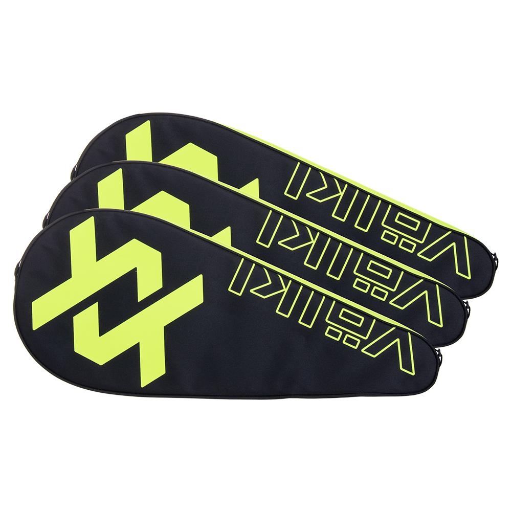 Tennis Racquet Cover 3 Pack Neon Yellow And Black