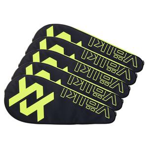 Tennis Racquet Cover 5 Pack Neon Yellow and Black