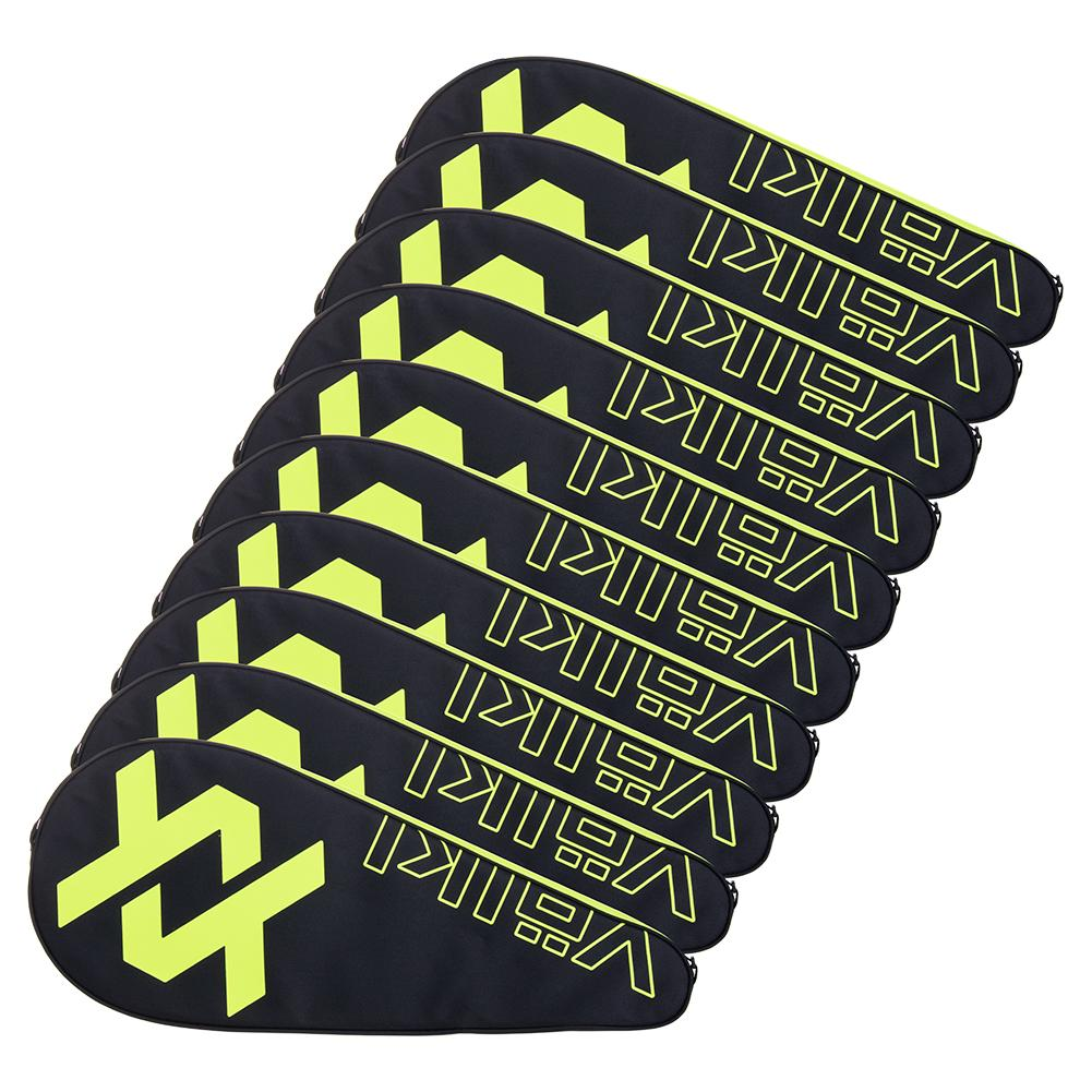 Tennis Racquet Cover 10 Pack Neon Yellow And Black