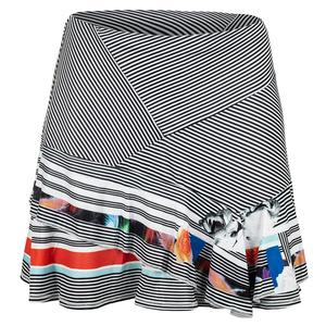 Women`s Long Tennis Skirt In Bloom Print