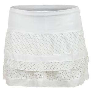 Women`s Sunrise Tier Tennis Skirt White