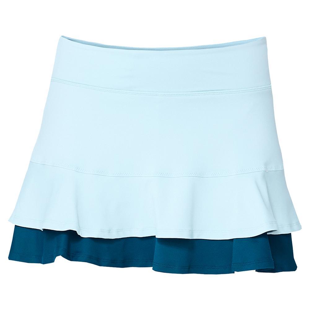 Women's Center Point 13 Inch Tennis Skort Starlight Blue