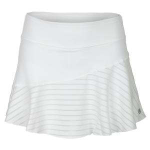 Women`s Multi Panel 13 Inch Tennis Skort White