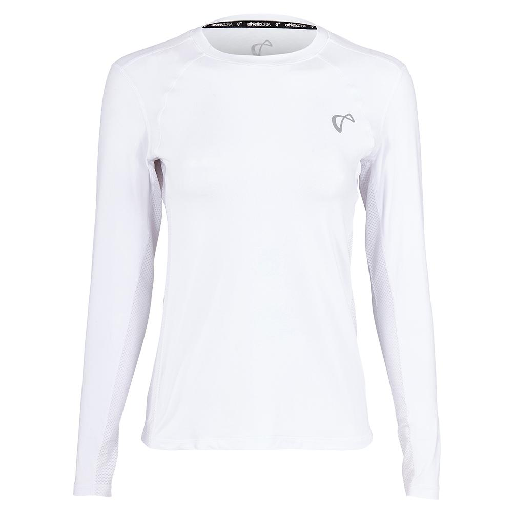 Women's Advantage Long Sleeve Tennis Top White