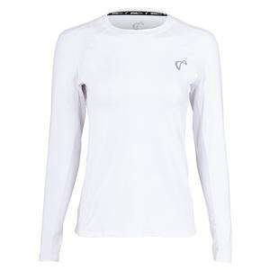 Women`s Advantage Long Sleeve Tennis Top White