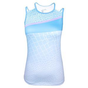 Women`s Reptile Victory Tennis Tank Blue