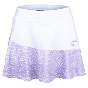 Women`s Reptile Victory Tennis Skort White and Lavender