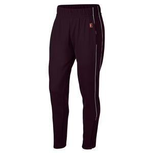 Women`s Court Warm Up Tennis Pant Burgundy Ash