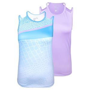 Girls` Reptile Victory Tennis Tank