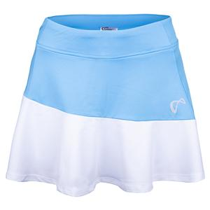 Girls` Victory Tennis Skort Blue and White
