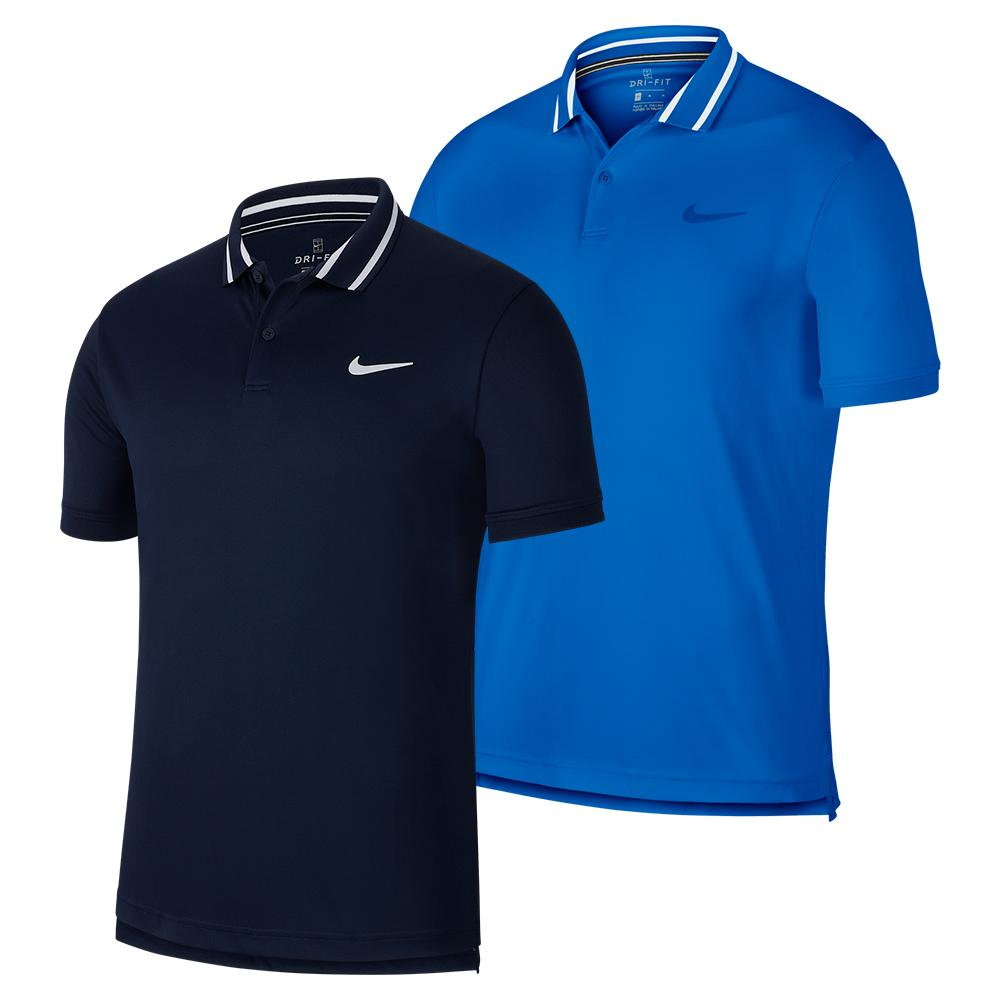 Men's Court Dry Pique Tennis Polo