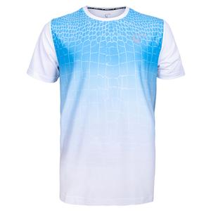 Men`s Ecdysis Mesh Back Ventilator Tennis Crew Blue