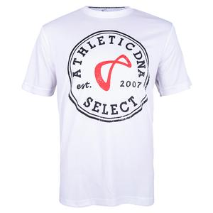 Men`s Select Graphic Tennis Crew White