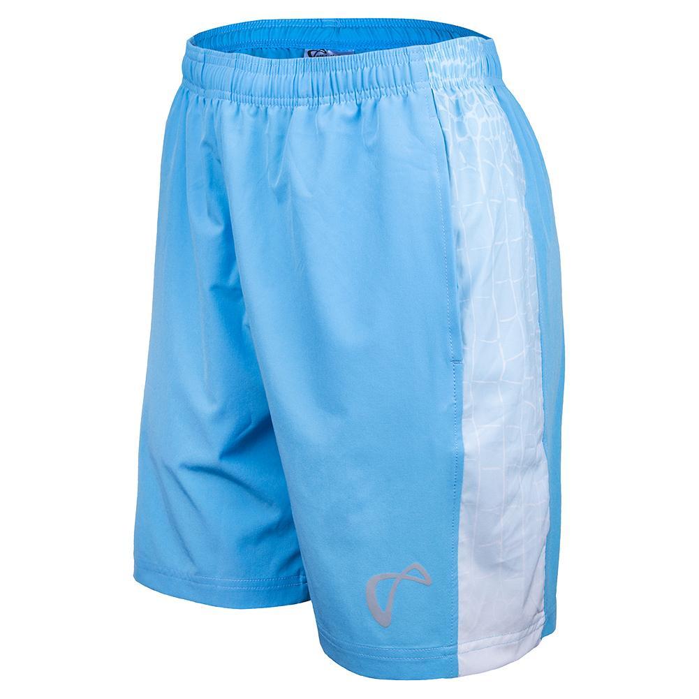 Boys ` Ecdysis Deuce Woven Panel Tennis Short Blue