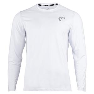 Men`s Ventilator Long Sleeve Tennis Top White