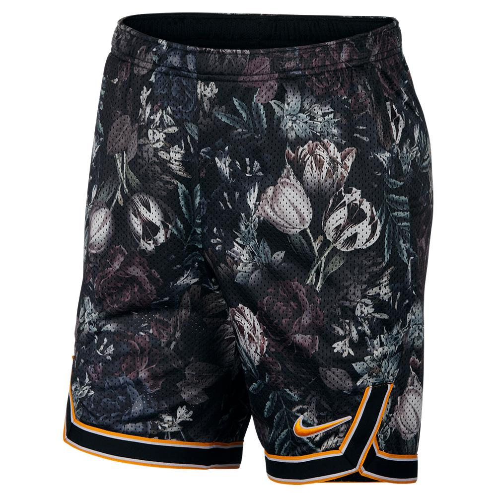 Men's Court Flex Ace 9 Inch All Over Print Tennis Short Black And Canyon Gold