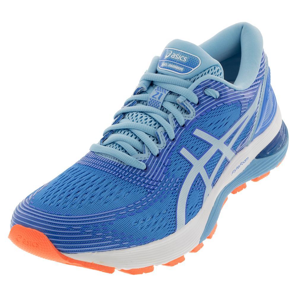 Women's Gel- Nimbus 21 Running Shoes Blue Coast And Skylight