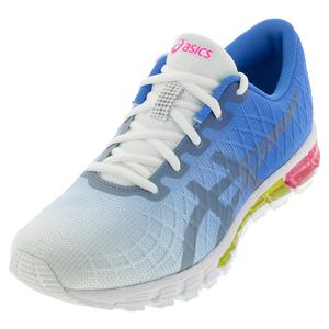 Women`s GEL-Quantum 180 4 Running Shoes White and Stone Gray