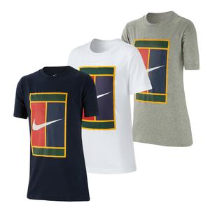 Boys` Court Heritage Logo Tennis Tee