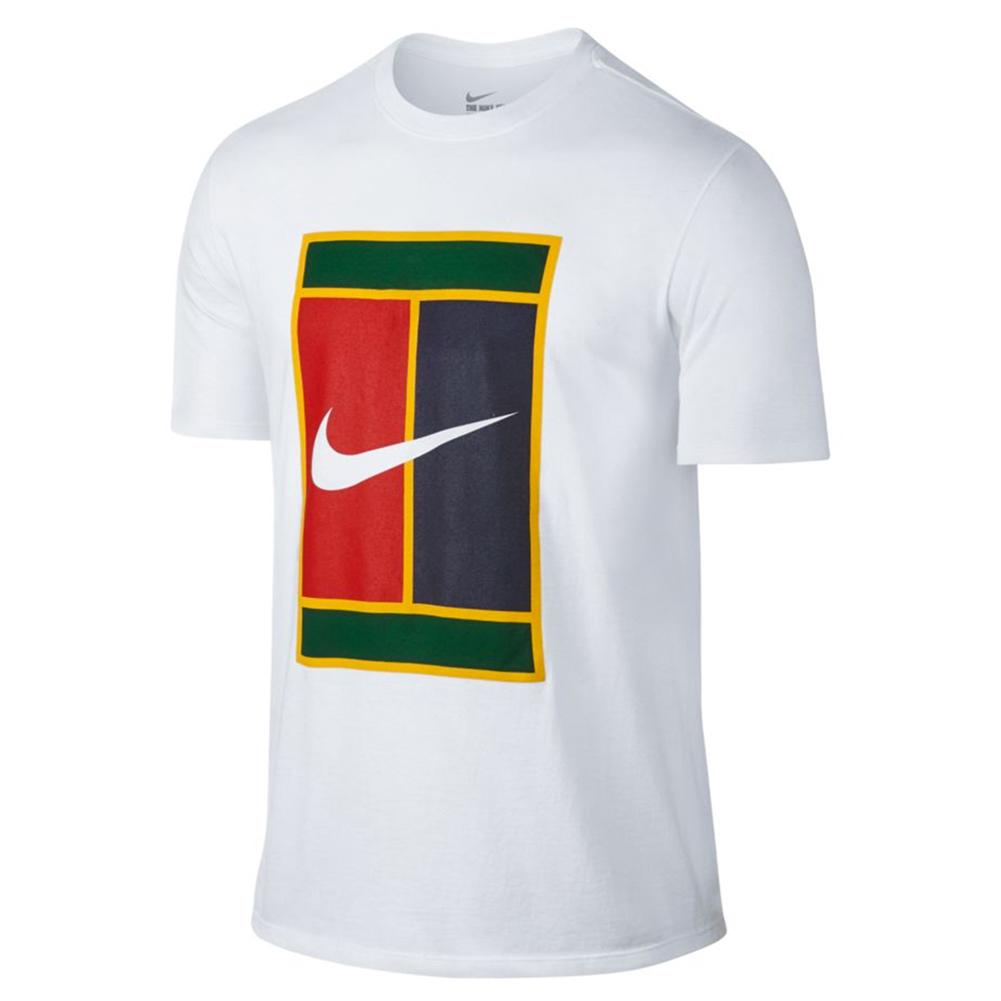 ca7a1c10 ... 063_DK_GREY_HTHR Men`s Court Heritage Logo Tennis Tee 100_WHITE ...