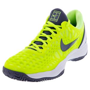 Men`s Zoom Cage 3 Tennis Shoes Volt Glow and Light Carbon