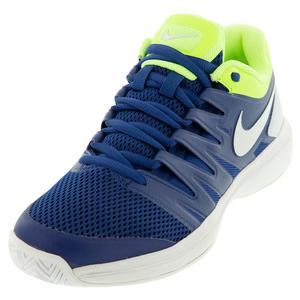 Men`s Air Zoom Prestige Tennis Shoes Indigo Force and Volt Glow