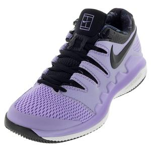 Women`s Air Zoom Vapor X Clay Tennis Shoes Purple Agate and Black