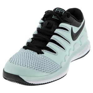 Women`s Air Zoom Vapor X Tennis Shoes Teal Tint and Black