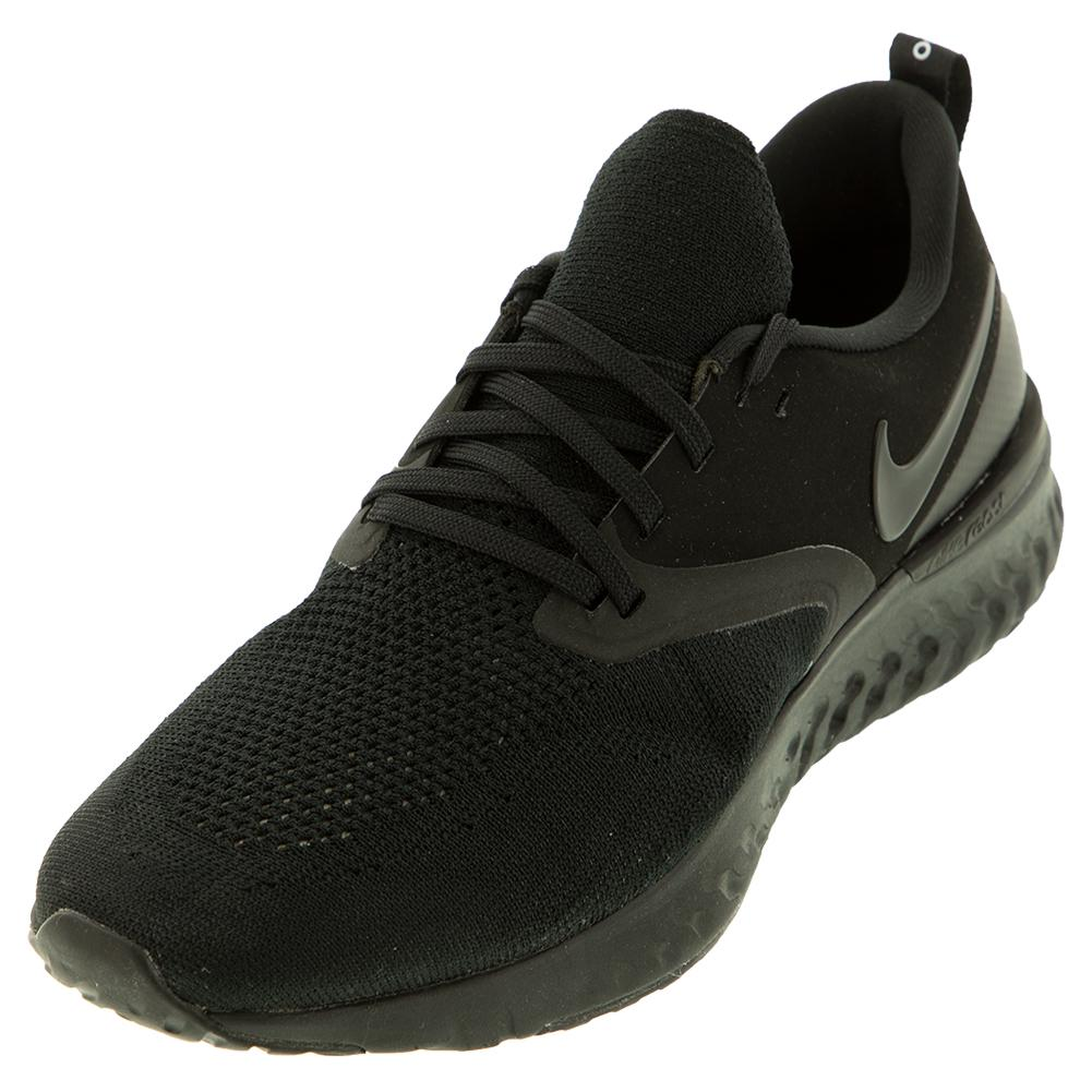 f9e483aa22d19 Men s Odyssey React Flyknit 2 Running Shoes Black And White. Zoom. Hover to  zoom click to enlarge