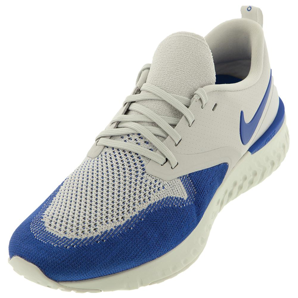 6fb8c076d4e232 Men s Odyssey React Flyknit 2 Running Shoes Vast Gray And Game Royal