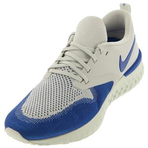 Men`s Odyssey React Flyknit 2 Running Shoes Vast Gray and Game Royal