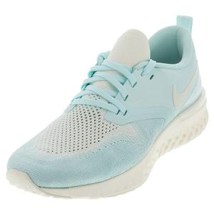 Women`s Odyssey React Flyknit 2 Running Shoes Teal Tint and Sail