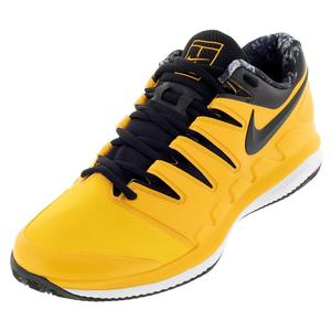 Men`s Air Zoom Vapor X Wide Tennis Shoes University Gold and Black
