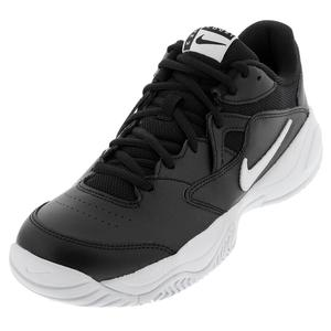 Men`s Court Lite 2 Tennis Shoes Black and White