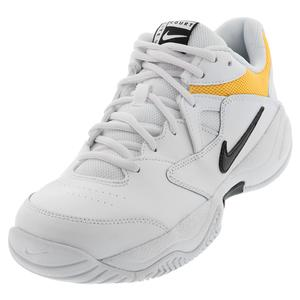 Men`s Court Lite 2 Tennis Shoes White and University Gold