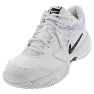 Women`s Court Lite 2 Tennis Shoes White and Black