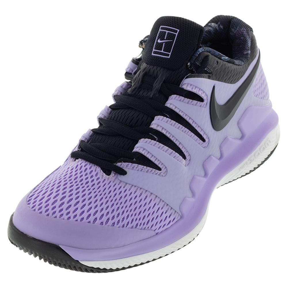 Juniors ` Vapor X Tennis Shoes Purple Agate And Black